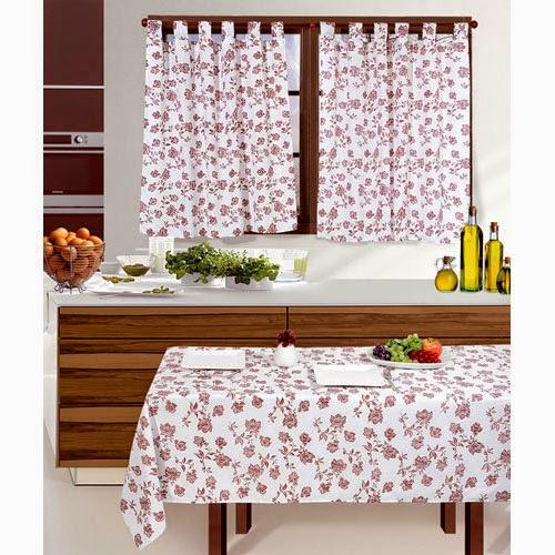 cortinas y manteles para cocinas modelos estampados