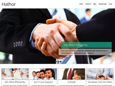 Hathor Responsive WordPress Theme