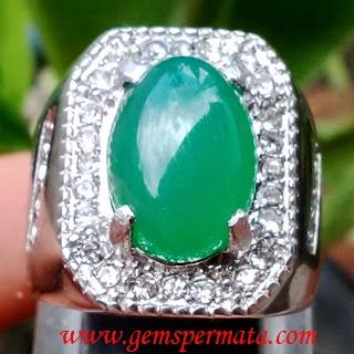 Cincin Batu Chrysoprase Green