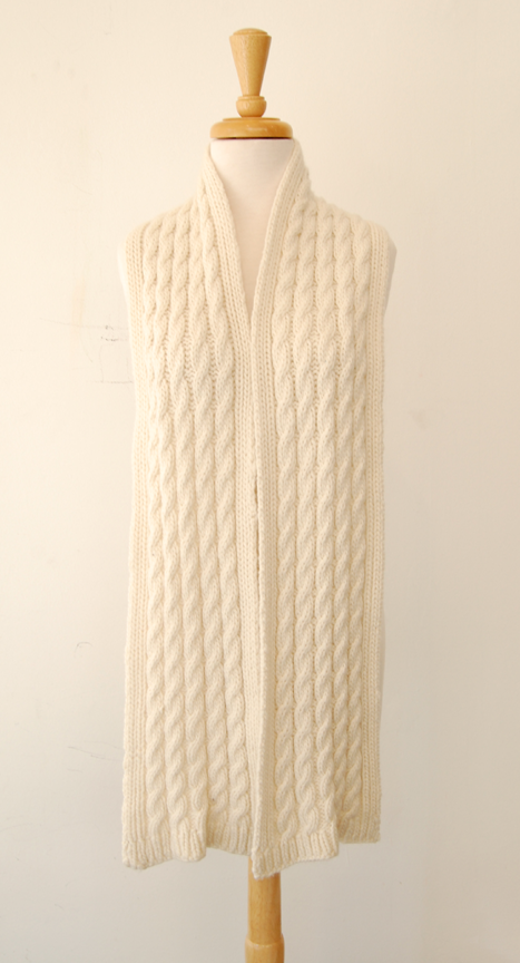 Jennifer Knits Los Angeles: Jennifer Knits Custom Pattern Cashmere Cable Knit...