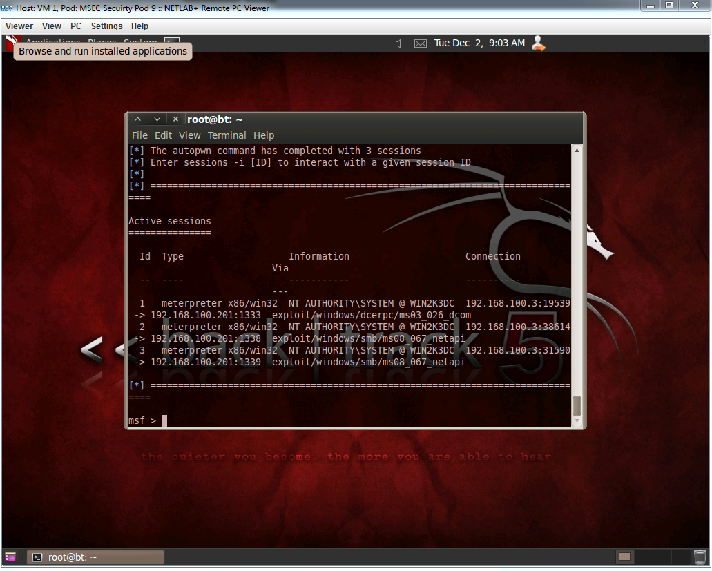 Windows command prompt nmap - After Checking What Was Available We Then Started Up Metasploit And Used The Open Port To Get Access To The Vulnerable Windows 2003 System