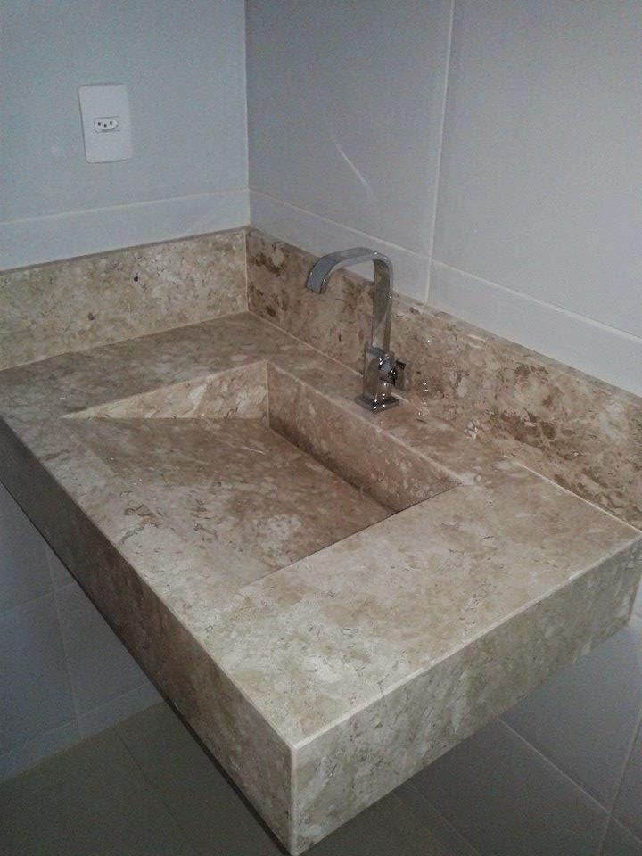 Marmores e granitos lavatorio de banheiro com cuba esculpida for Tipos de encimeras de granito
