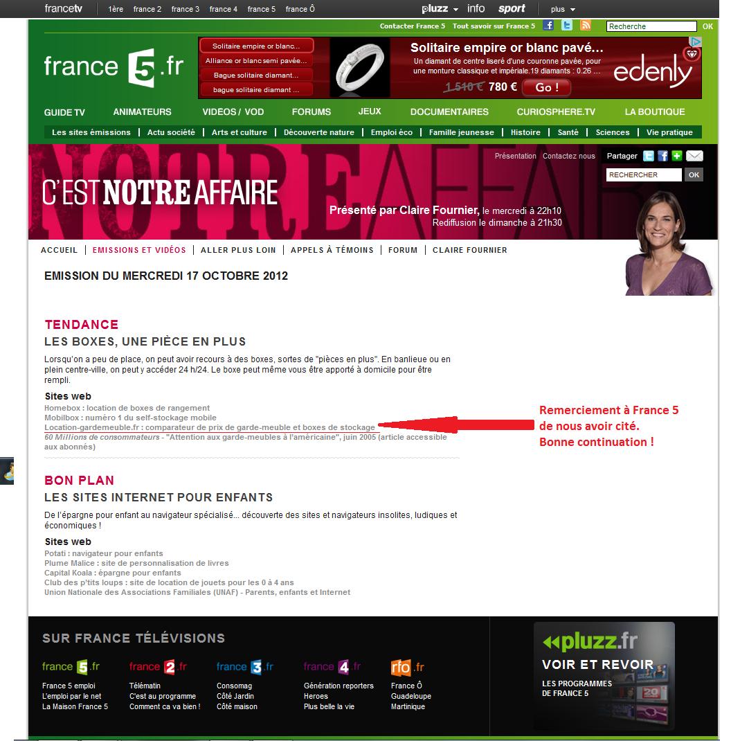 Self stockage france 5 c 39 est notre affaire - Meuble sur mesure pas cher capital m6 ...