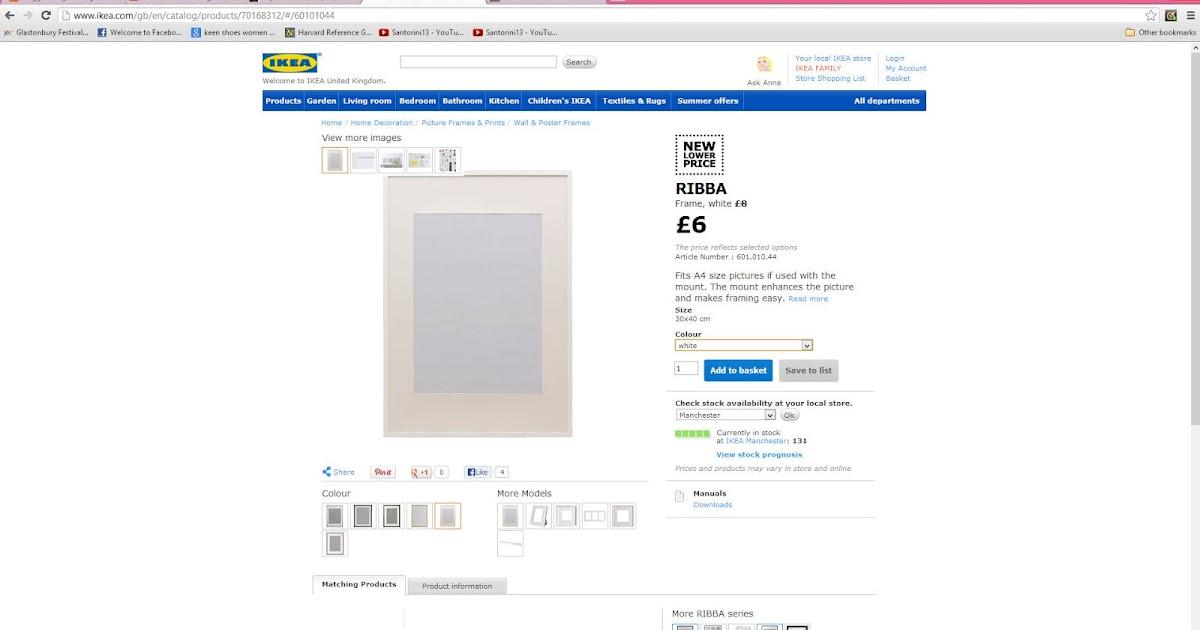 Megan Rodgers Art Blog Ikea Ribba Frames Series