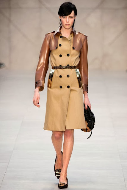 Burberry AW 13 runway trench