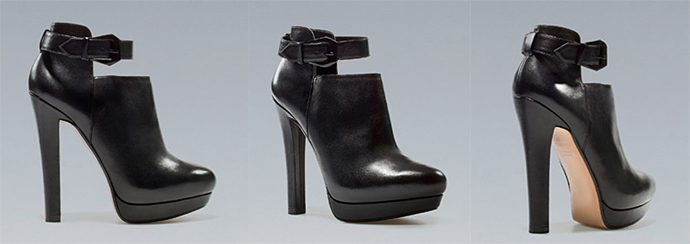 Black leather Zara Heels Collection Fall 2012