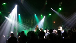 Alcest bathed in rays of light
