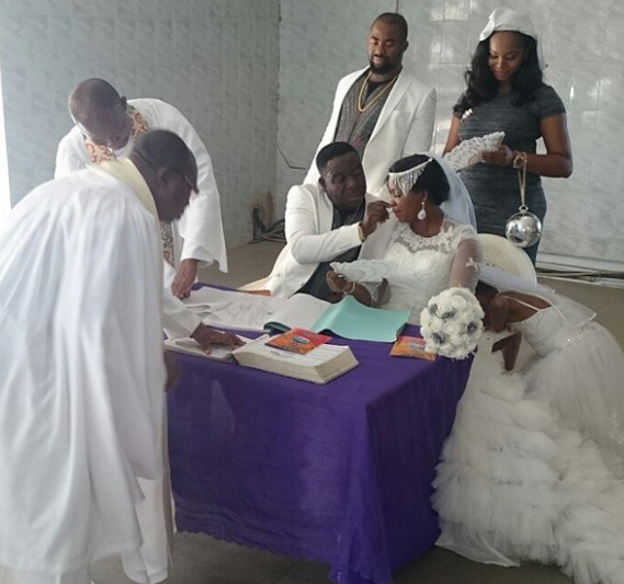 John Okafor and his wife Stella Wedding