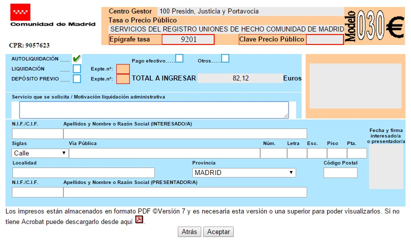 Aeren abogados registro de uniones de hecho comunidad de for Oficinas de registro de la comunidad de madrid