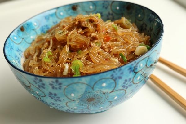shiu pork with mung bean threads recipes dishmaps mayi shang shiu pork ...