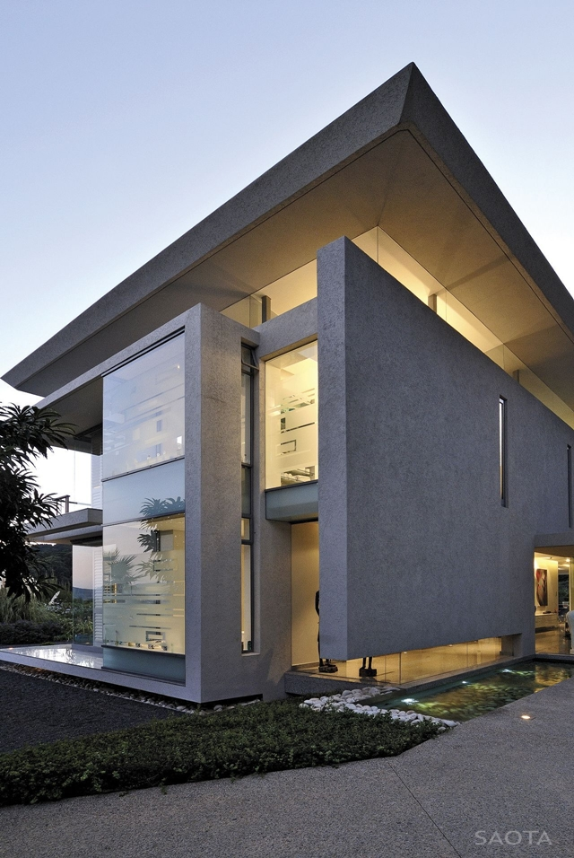 World of architecture modern villa montrose house by for Modern house villa