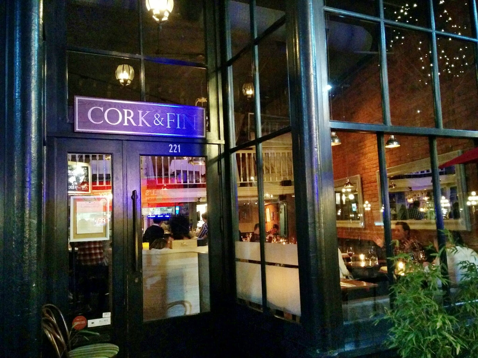 my first dine out this year was at cork fin in gastown this was a place that i had meant to visit in past years but never worked out - Cork Restaurant 2015