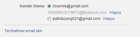 cara ganti email facebook