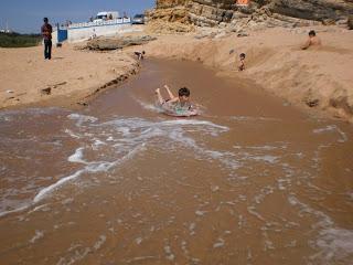 beach, sand, ericeria, bodysurf