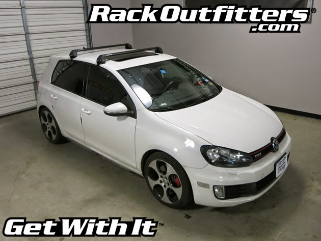 New Volkswagen Gti Hatchback Rhino Rack 2500 Rs Vortex Aero Black Base Roof Rack 10 14 Rack