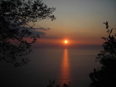 Punta Chiappa sunset