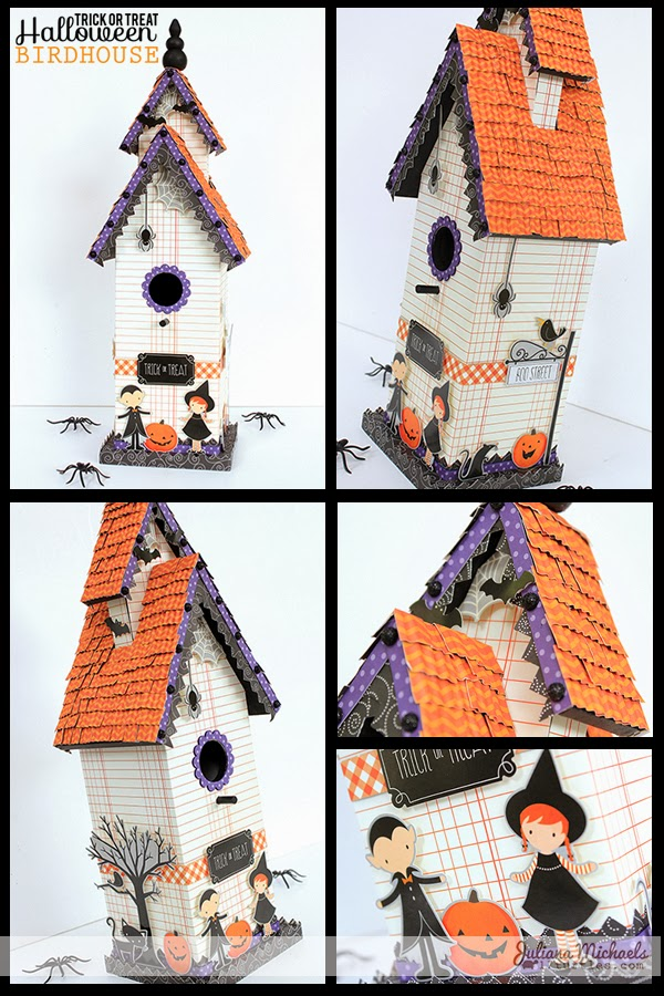Trick or Treat Halloween Birdhouse by Juliana Michaels