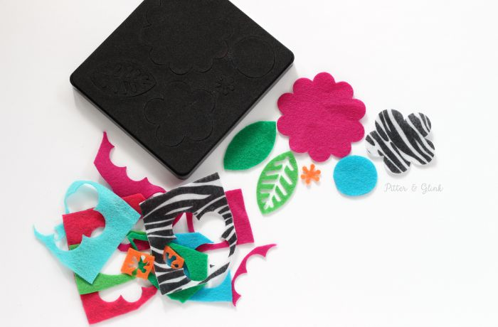 Use your Sizzix BIGkick and a Bigz die to cut felt for a pretty handmade hair accessory. |sponsored| www.pitterandglink.com