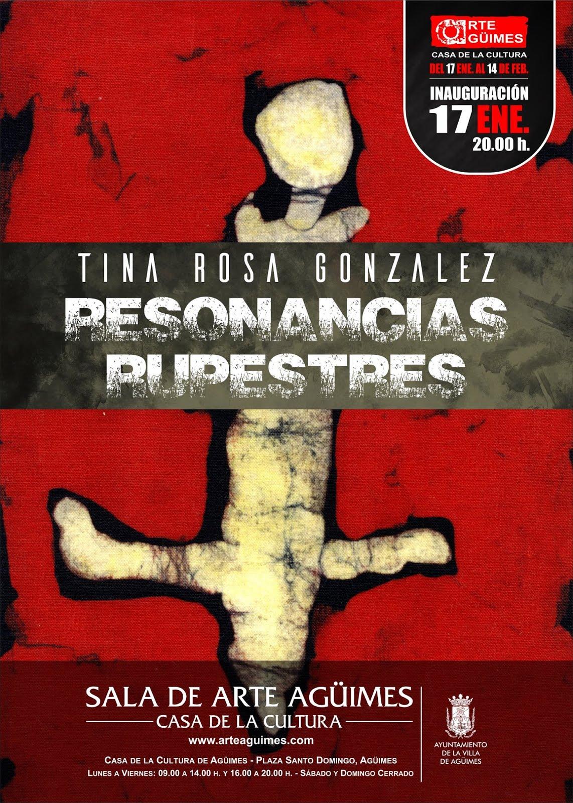 """Resonancias rupestres"", de Tina González, en la Sala de Arte Agüimes"
