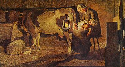 Le due madri quadro di Giovanni Segantini