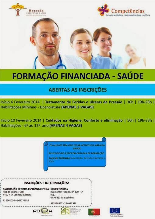 formação financiada saúde Matosinhos