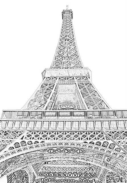 Eiffel sketch bottom view