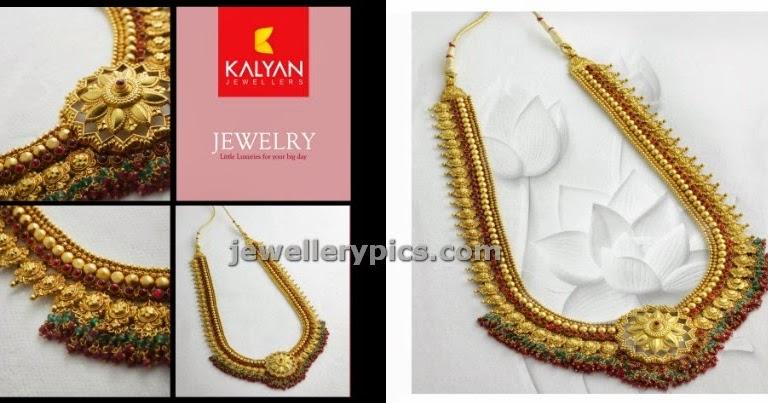 Kalyan Jewellers Temple Long Chain Model Latest