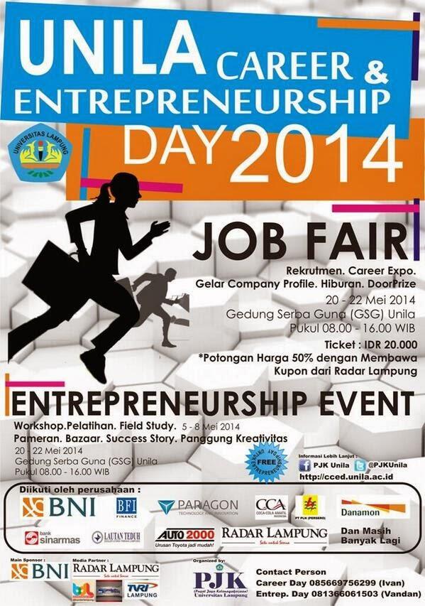Event Lampung Job Fair Lampung Bulan Mei 2014