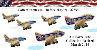 Holgate Toys Exclusive: Collectable Air Force One planes.