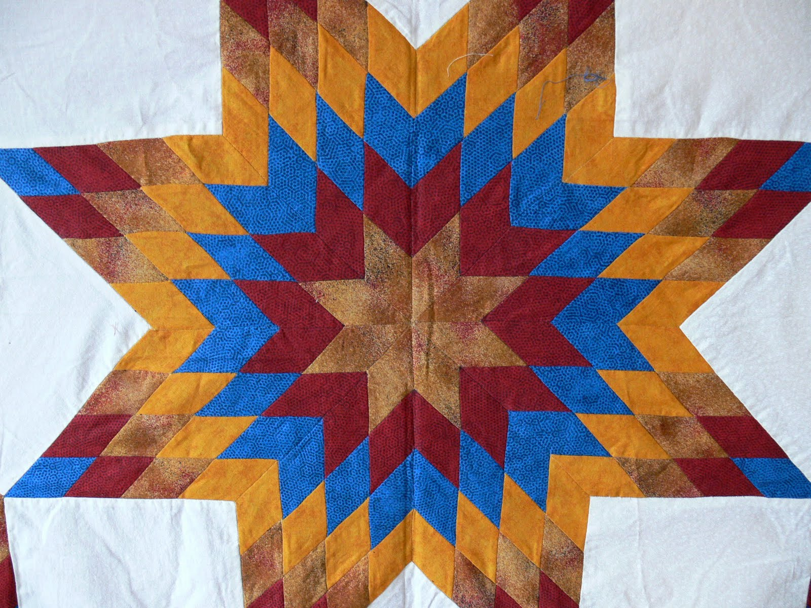 Stitched Up In Sleepy Hollow Broken Star Quilt Started