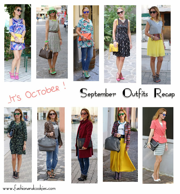September outfits recap on Fashion and Cookies, fashion blogger