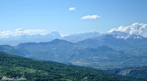 Sant'Eufemia a Majella, panorama sulla via del ritorno