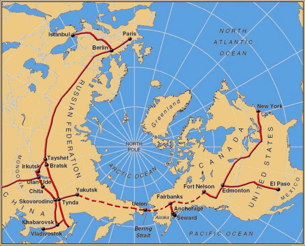 visit the link for additional maps showing the proposed bering strait tunnel and what it would take to link the rail systems of russia the us and canada