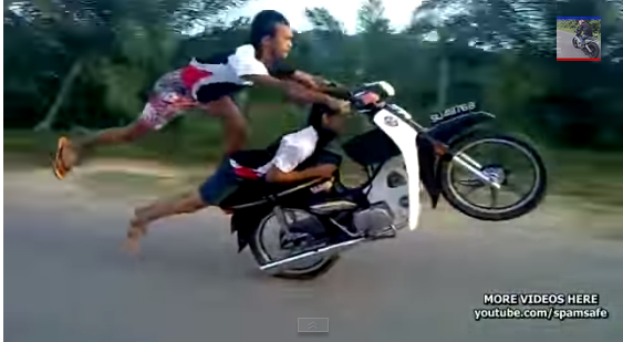screnshot photo from youtube This two crazy men risks their life to perform death defying stunts on their motorbike. They were doing different positions that are not supposed to be […]