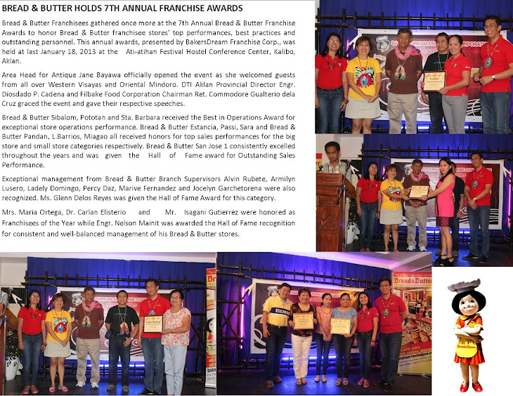 Bread & Butter 7th Franchise Awards!
