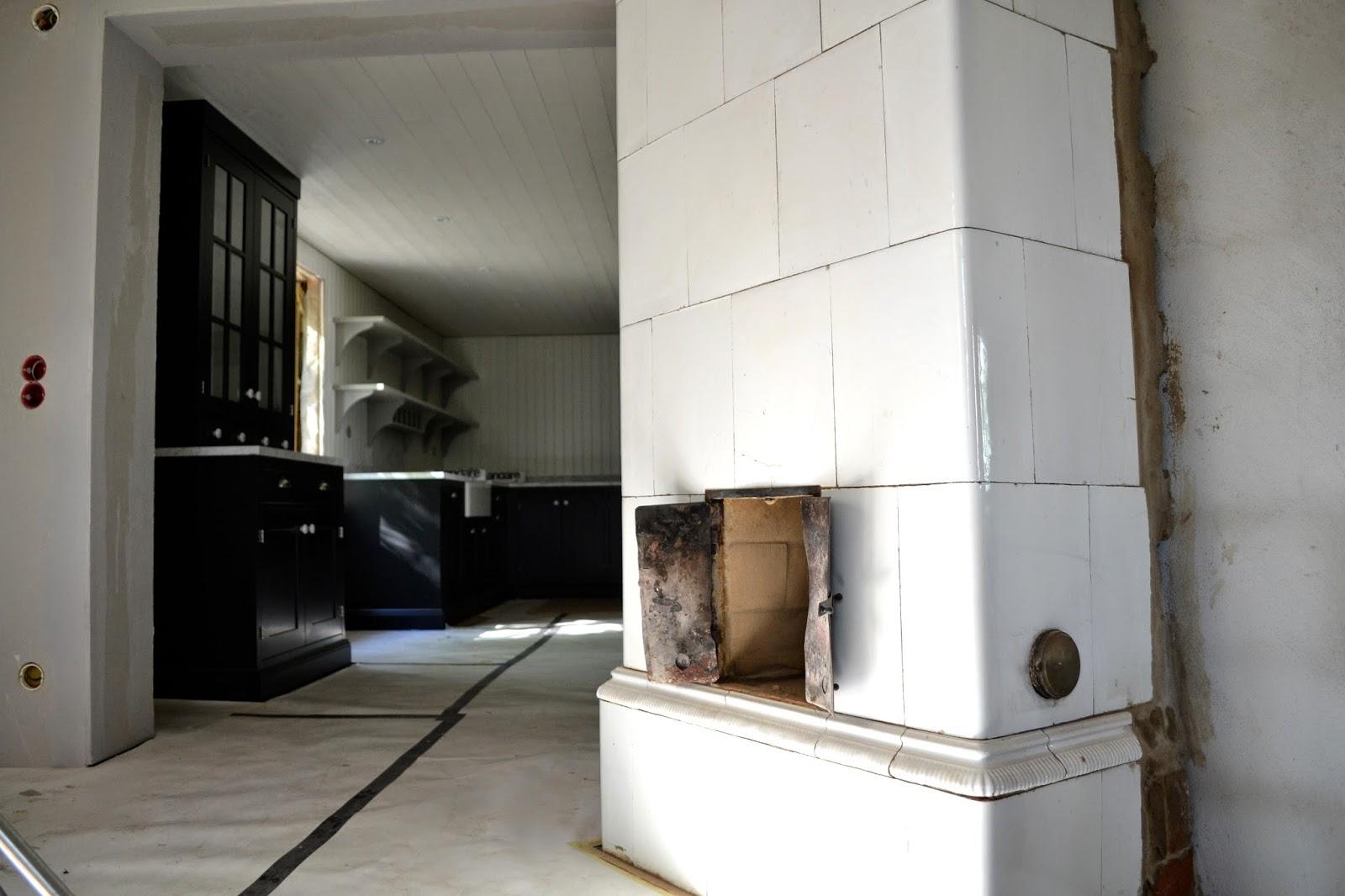 Boåsen: Köket monteras