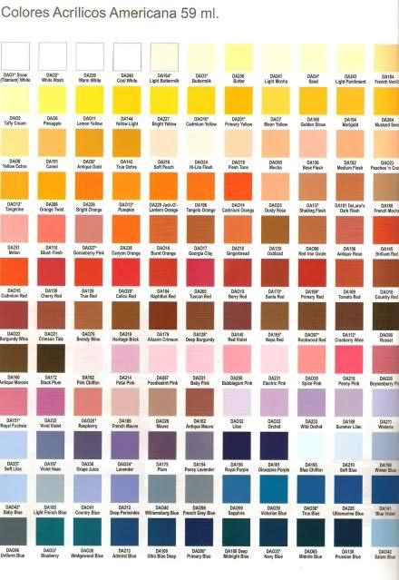 Pintura americana colores