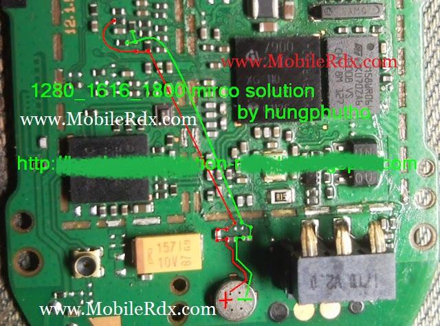 image nokia 1280 mic jumper solution download