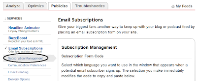 Subscription management