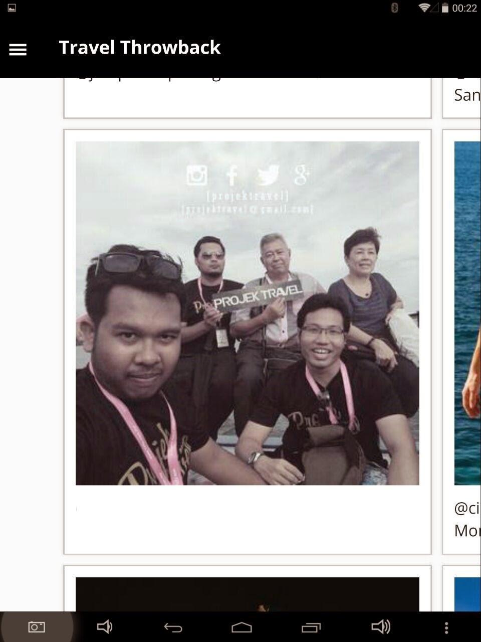 Gambar Projek Travel Trending Di Laman Web Throwbacks