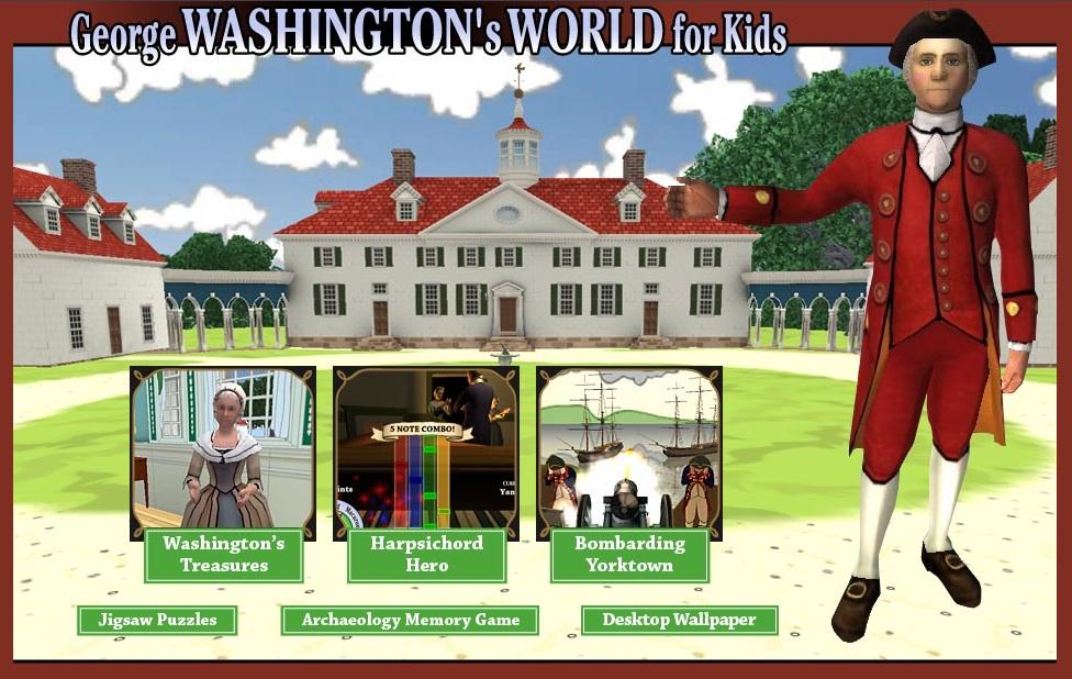 clark aldrich first drafts profile george washington s world for kids