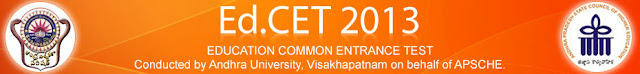 Ed.CET-2013 Hall ticket Download, Print Online