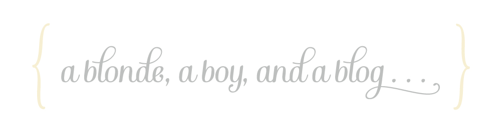 a blonde, a boy, and a blog. . .