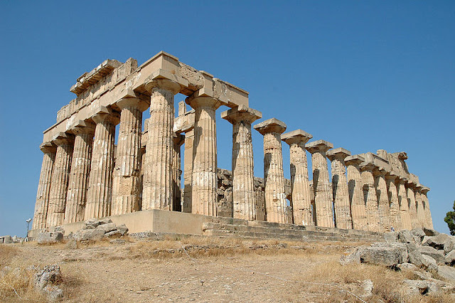 Sicily Selinute Temple (Ancient Greek Temple of Hera, aka Temple E)
