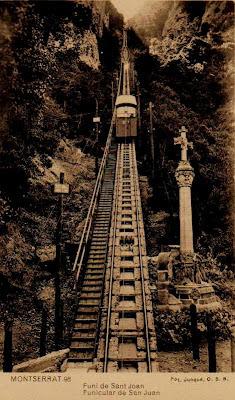 funicular sant joan cremallera tren montserrat monasterio