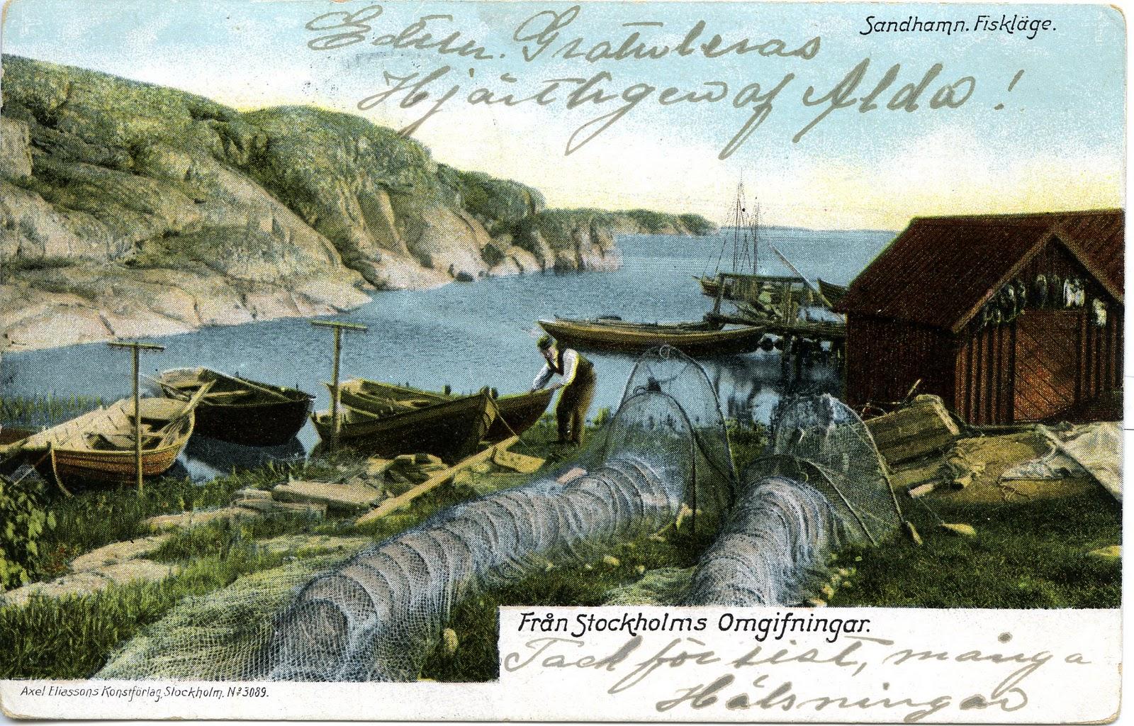 Axel eliassons konstf rlag postcards nr 3089 fr n for Elias v fishing