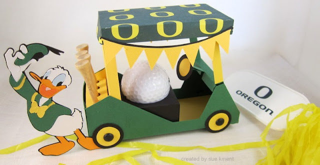 Sue's Stamping Stuff: Happy Birthday Oregon Duck Golf Cart! on
