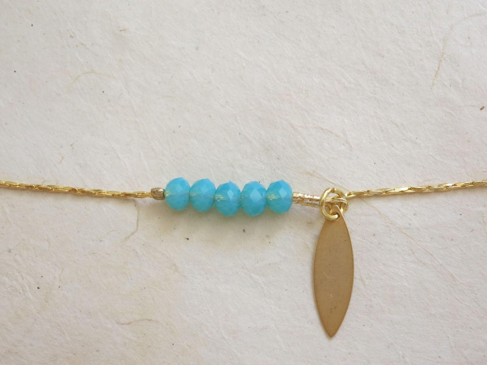 l 39 atelier de kalua tuto bijou 1 une parure dor e et turquoise le bracelet. Black Bedroom Furniture Sets. Home Design Ideas