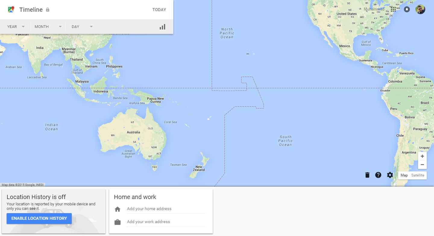 how to delete maps history from google maps