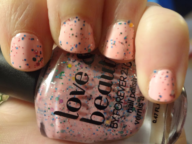 pink icing nail polish swatch inside